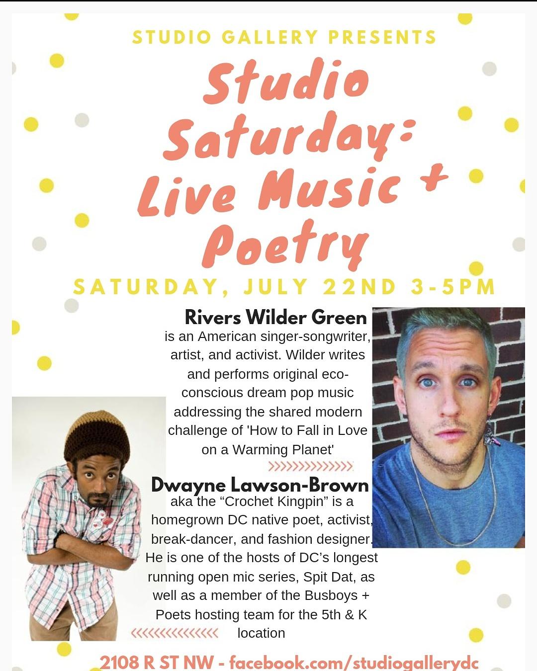 Studio Saturday: Live Music &Poetry